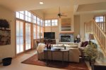 Open Living Area, French Doors to Patio